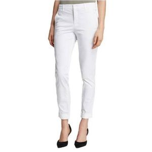 Vince white skinny chino pant zippered ankle, 0
